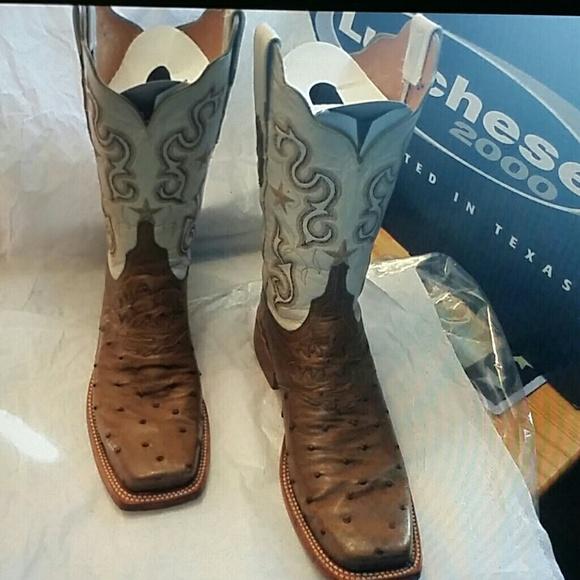 0c000a67402 Lucchese 2000 Ostrich Womens Boots 7 1/2 B